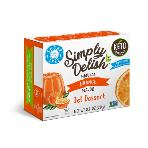 Simply Delish Sugar Free orange Jel
