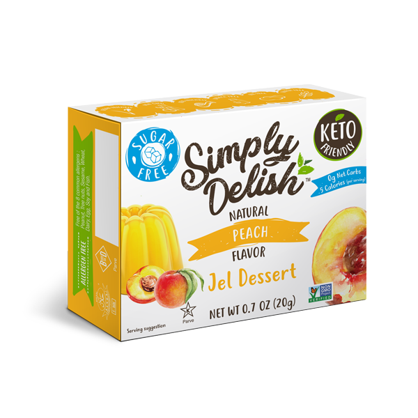 Simply Delish Sugar Free Peach Jel