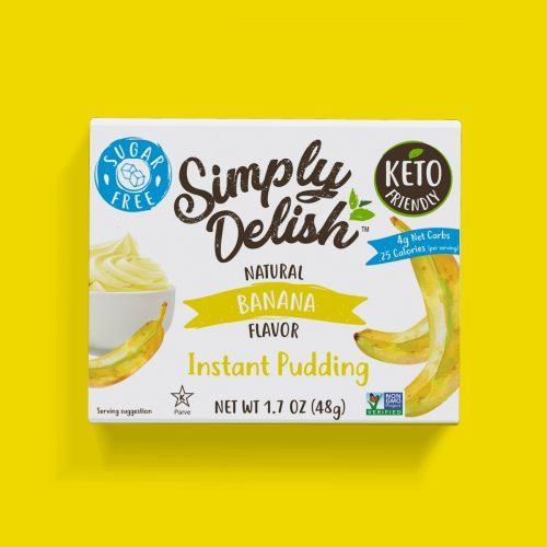 Simply Delish Keto Friendly vegan Banana Pudding