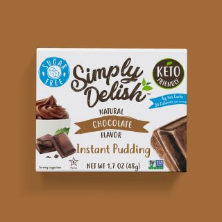 Simply Delish Keto Friendly vegan chocolate Pudding