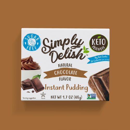 Simply Delish Keto Friendly vegan chocolate Pudding