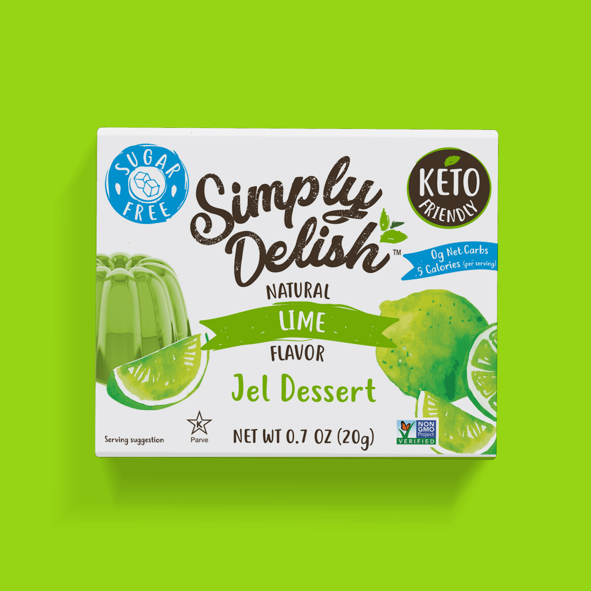 Keto Friendly Vegan Simply Delish Lime Jel