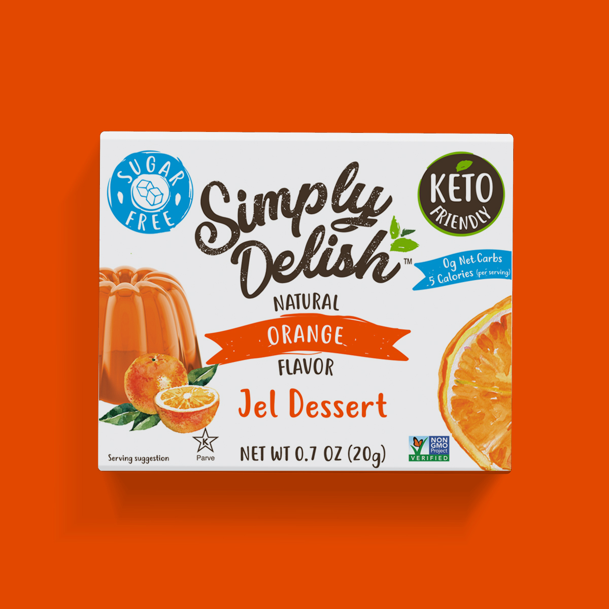 Simply Delish Keto Friendly Orange Jel