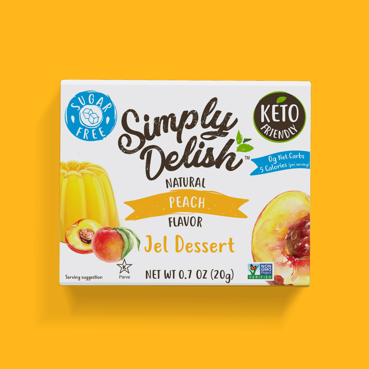 Simply Delish Keto Friendly Peach Jel