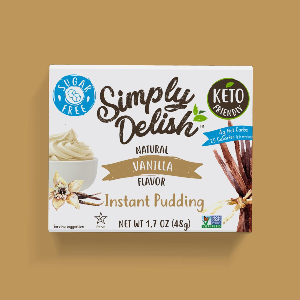 Simply Delish Keto Friendly vegan Vanilla Pudding