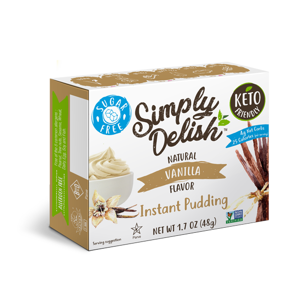 Simply Delish Vegan Instant Vanilla Pudding