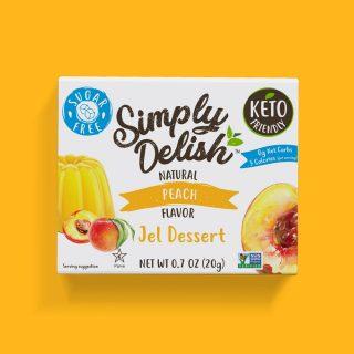 Sugar Free Vegan Peach Jel