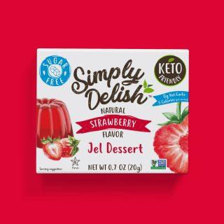 Sugar Free Vegan strawberry jel