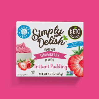 Sugar Free Vegan Instant Strawberry Pudding