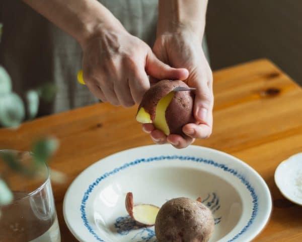 peeling a potato