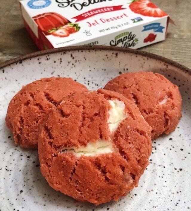 dessert made using simply delish strawberry jel