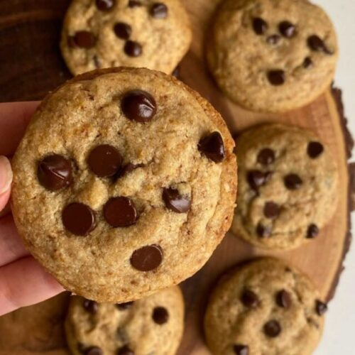 batch of chocolate chip cookies using simply delish
