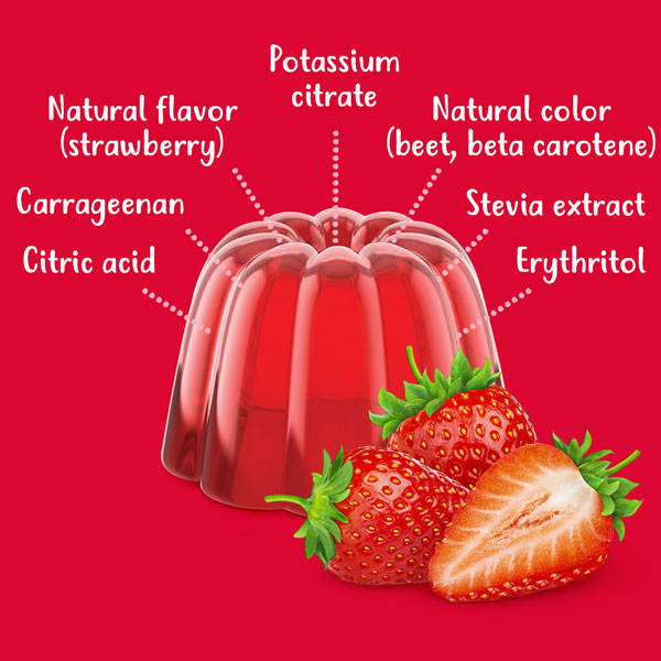 strawberry jel ingredients