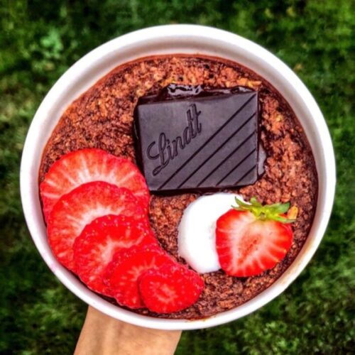 oatmeal chocolate desert using simply delish