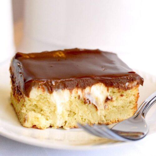 keto boston cream pie cake using simply delish