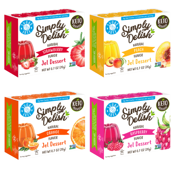 Simply Delish multipack jels four flavors