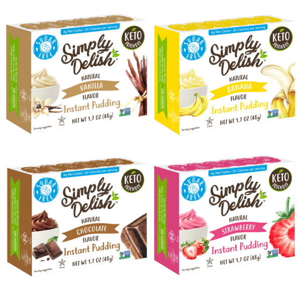 Simply Delish multipack puddings four flavors