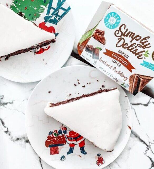 chocolate cake made using simply delish