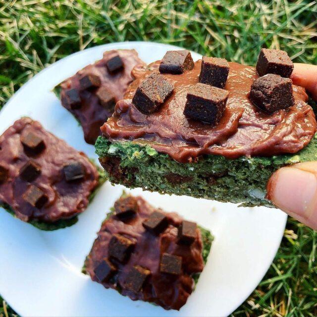 vegan mint chocolate chip bars