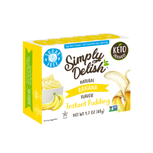 Simply Delish Vegan Sugar Free Banana Pudding