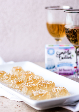 Simply Delish Unflavored Jello Champagne Shots