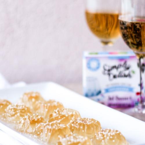 Simply Delish Unflavored Jello Champagne Shots