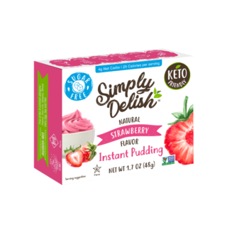 Simply Delish Sugar Free Instant Strawberry Pudding
