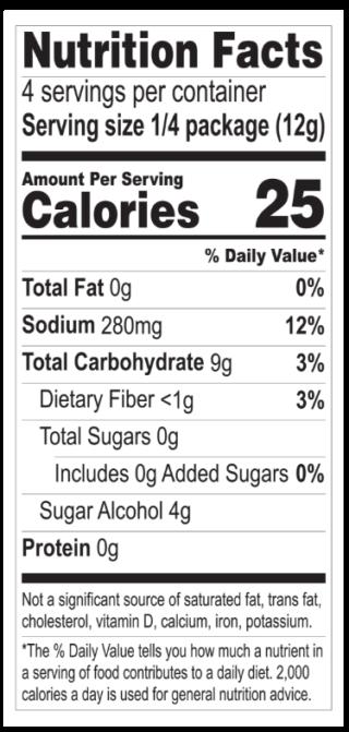 Banana Pudding nutritionals
