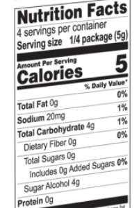 Jel Nutrition Facts