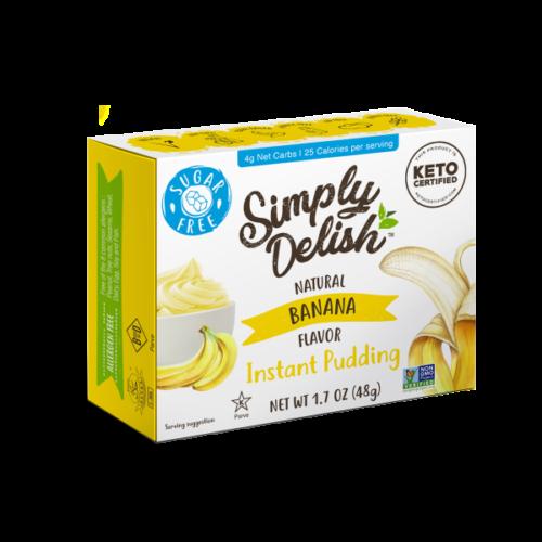Simply Delish Vegan Sugar Free Banana Pudding