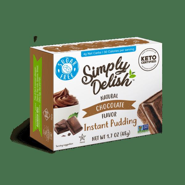 plant based chocolate pudding sugar free