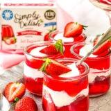 keto strawberry cups